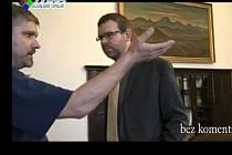Záběr z videa Petra Srkala na lounské radnici