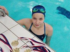 Jitka Hornofová s medailemi.