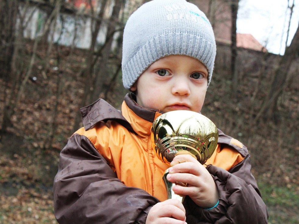 Velká Žatecká 2017. Nejmladší účastník Martin Pěcha.