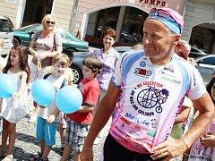 Josef Zimovčák, mnohonásobný mistr světa v jízdě na vysokém kole