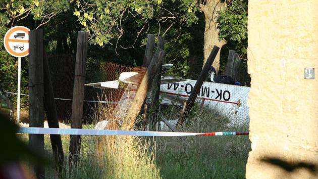 V obci Lipno havaroval malý letoun. Jeden člověk na místě zahynul