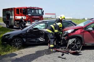 Nehoda v průmyslové zóně Triangle u Bitozevsi