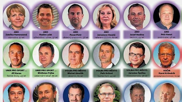 Zastupitelé Žatce po komunálních volbách v říjnu 2018