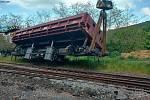 Vykolejený vagon u Hřivic