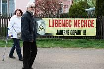 Pochod a protestní akce proti průzkům a úložišti na Podbořansku.