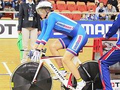 Lucie Záleská na startu jedné z disciplín v běloruském Minsku na světovém šampionátu.