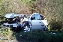 Vážná nehoda dvou aut u Želče.
