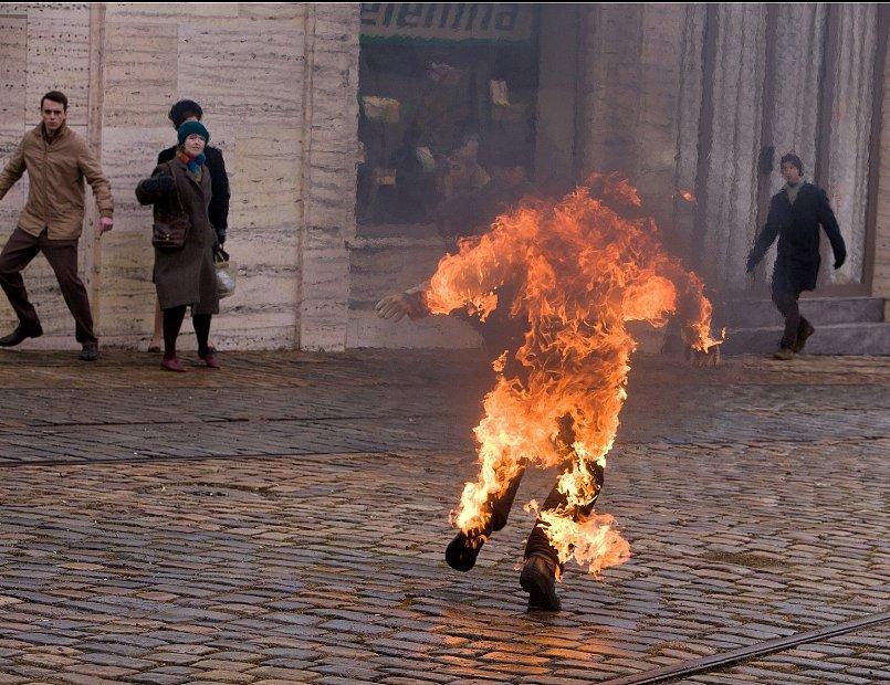 Natáčení filmu Hořící keř.