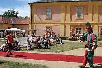 Rudolfovy slavnosti na zámku v Krásném Dvoře. Archivní snímek