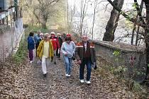 Žatečtí turisté při posledním pochodu roku 2009