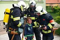 Ve Vroutku děti i hasiči cvičili svou reakci při požáru
