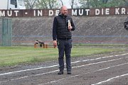 Natáčení filmu o Emilu Zátopkovi na cyklistickém stadionu v Lounech
