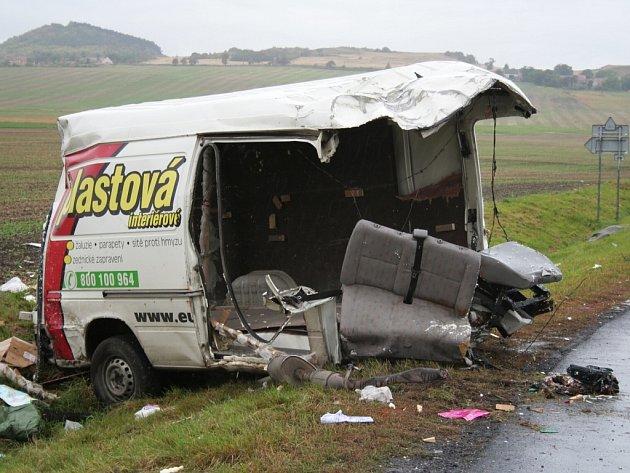 Tragická dopravní nehoda u Libčevsi 25. září 2007.