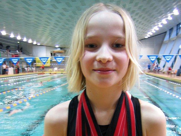 Nadějná lounská plavkyně Jitka Hornofová