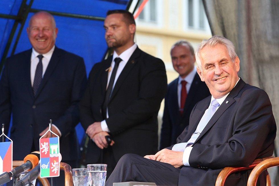 Prezident Miloš Zeman v Žatci