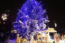 Slavnostní rozsvícení stromu v Žatci. Archivní foto
