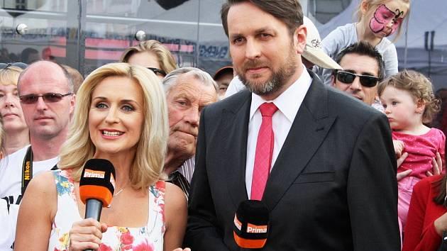Televize Prima odvysílala své zprávy ze žateckého náměstí Svobody