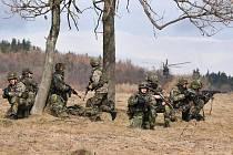 Na Doupově se koná největší letošní cvičení žatecké brigády. Více než 1200 vojáků tam cvičí střelbu i operace s obrněnými transportéry a vrtulníky.