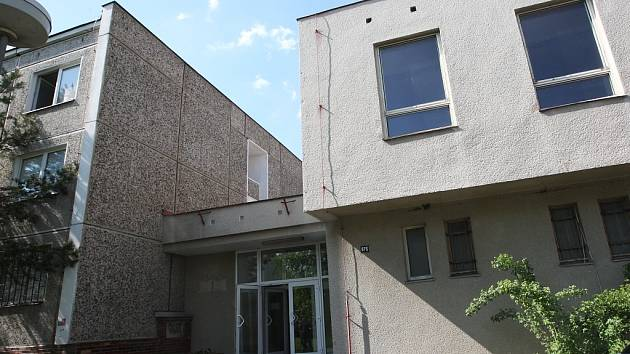 Ubytovna  na podbořanském sídlišti Barborka.