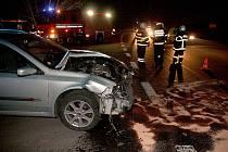 Nehoda na křižovatce u Postoloprt