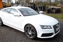 Audi A7 Sportback, které se bude v Lounech dražit.