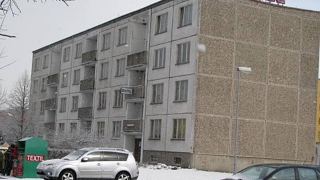 Bývalý hotel Garni v Žatci.