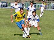 Přípravné utkání Loun (v bílém) proti juniorce Teplic