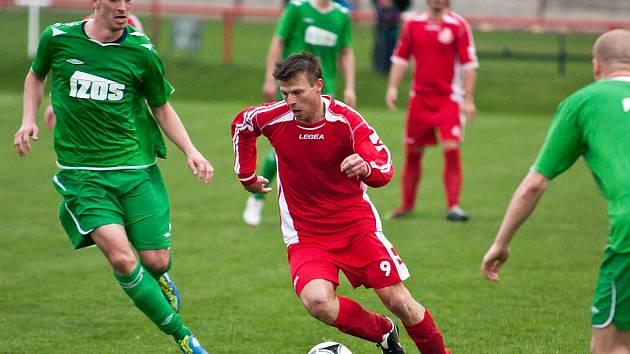 Divizní utkání Žatce (v zeleném) proti Brozanům