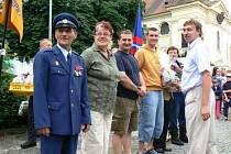 Snímek z oslav 140. výročí založení sboru, které se uskutečnily v roce 2008