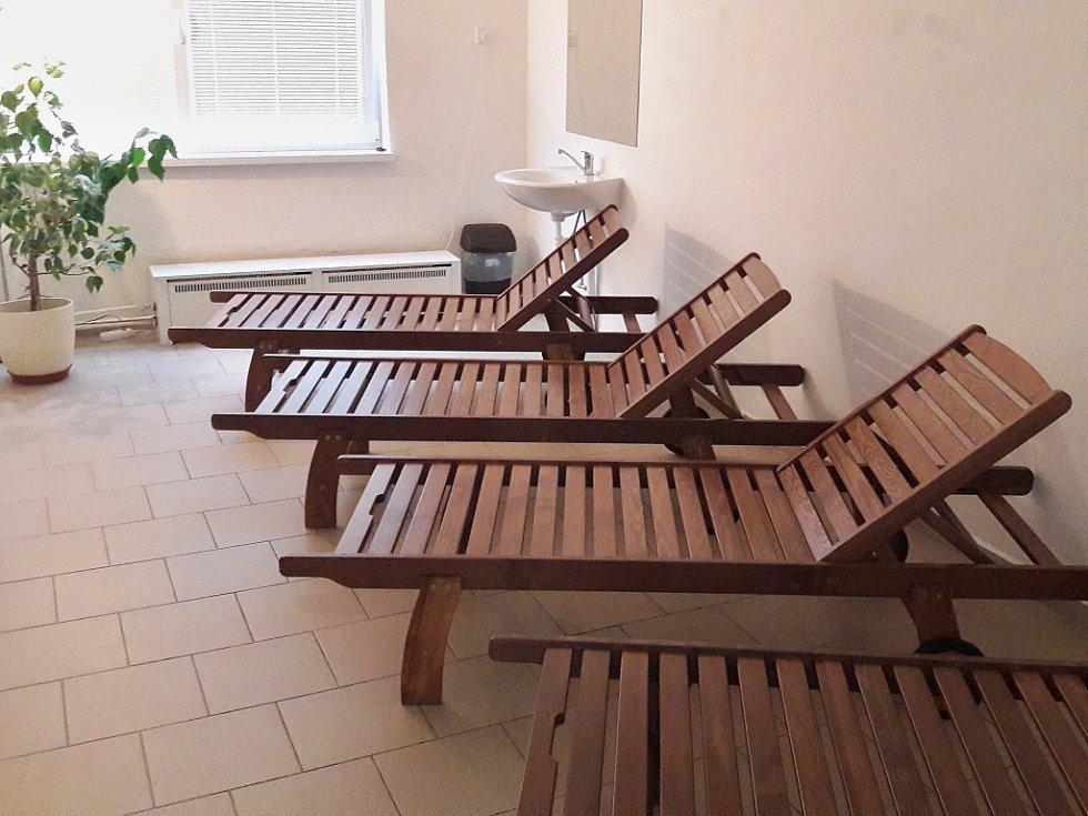 Nová odpočívárna v lounské sauně