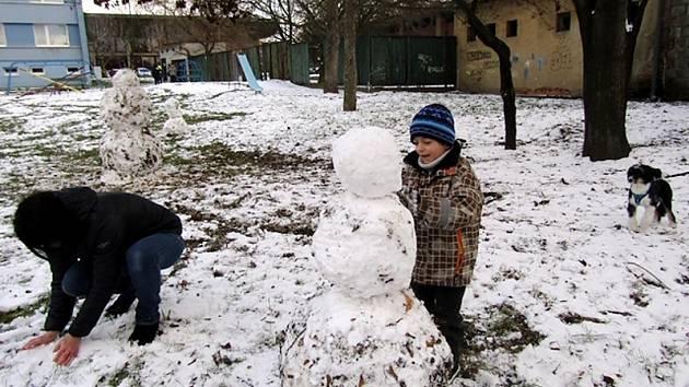 Leden by se mohl nazývat měsícem stavění sněhuláků.