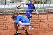 Ondřej Vít směčuje v utkání proti Modřicím v jedné z předešlých sezon.