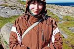 Eva Hájková na nejsevernějším místě Evropy, výběžku Knivskjellodden