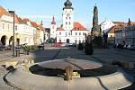 Centrální náměstí Svobody v Žatci.