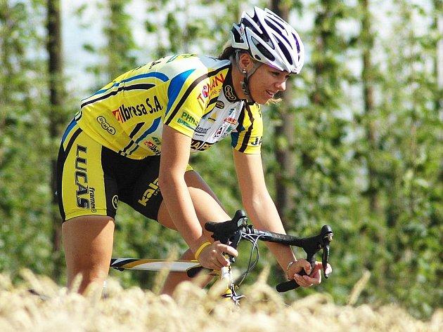 Cyklistka Lucie Záleská