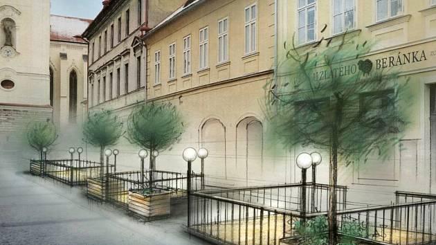 Budoucí podoba Hošťálkova náměstí v Žatci