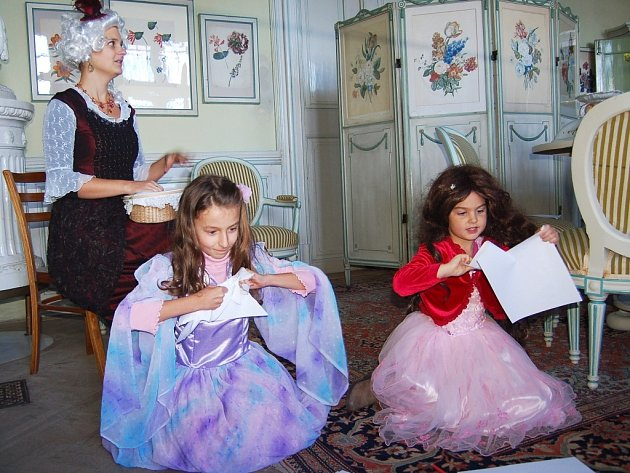 Živé obrazy na zámku v Krásném Dvoře