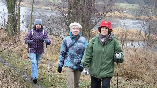 Novoroční procházka ze Žatce podél Ohře do Stroupče
