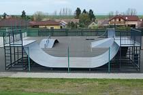 Takto vypadal skatepark v Podbořanech. Nyní už na místě není.