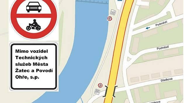 Mapka ukazuje, která silnice bude automobilům zapovězena