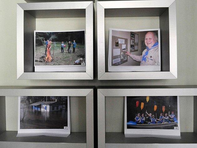 Výstava v knihovně ke stoletému výročí činnosti lounských skautů