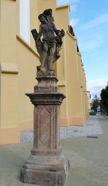 Socha sv. Šebestiána vLubenci
