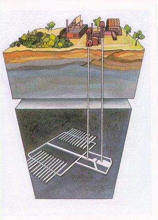 Vizualizace, jak vypadá hlubinné úložiště jaderného odpadu
