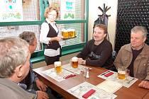 Nová restaurace s názvem U Orloje, která je součástí nového Chrámu chmele a piva v Žatci