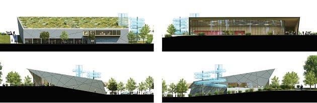 Možná budoucí podoba Městské plavecké haly vLounech