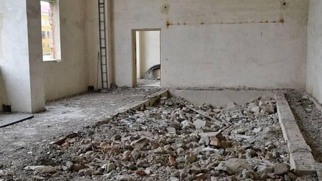 Situace v objektu staré kotelny z 80. let v areálu věznice.