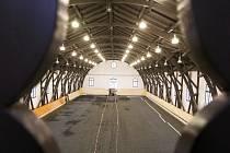 Jízdárna v Terezíně těsně před dokončením