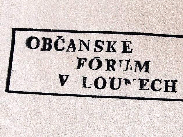 Razítko lounského Občanského fóra