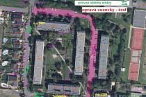 Grafika ukazuje, které ulice v Lounech projdou opravou
