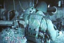 Snímek z policejního videozáznamu ze zásahu v pěstírně marihuany v Žatci